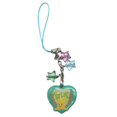 Disney Fairies Tinker Bell Heart Shaped Cell Phone Charm