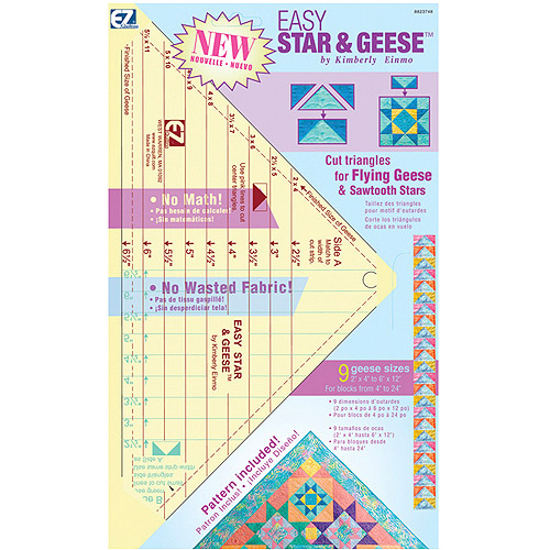 "Wright's Easy Star & Geese 9-1/4"" x 13"" Quilting Ruler"