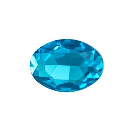 8pcs Embellishment Rhinestone, Indicolite Oval Foil Back Crystal 10x8mm