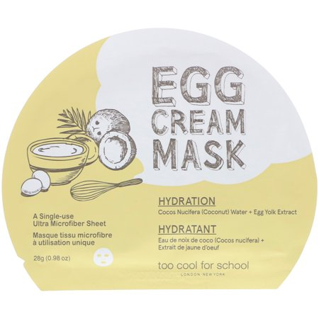 Too Cool for School  Egg Cream Mask  Hydration  1 Sheet   0 98 oz  28