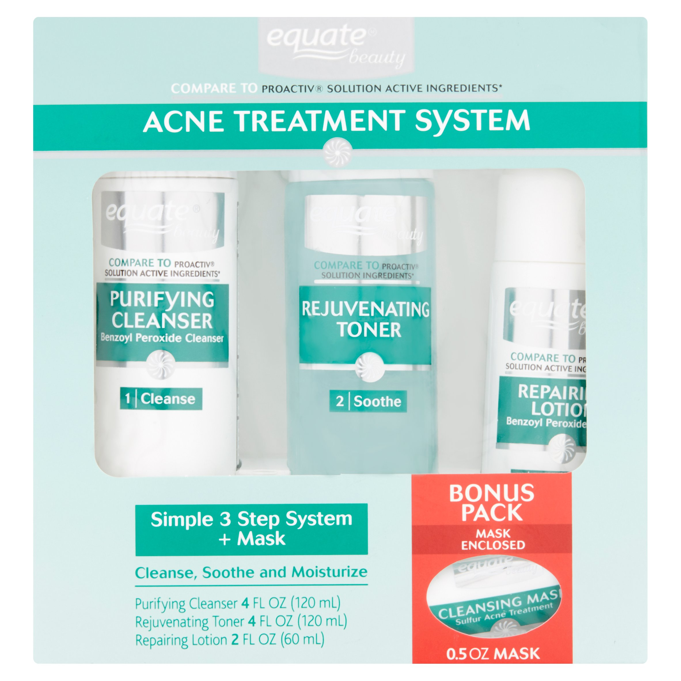 Equate Acne Treatment System Walmart Com Walmart Com