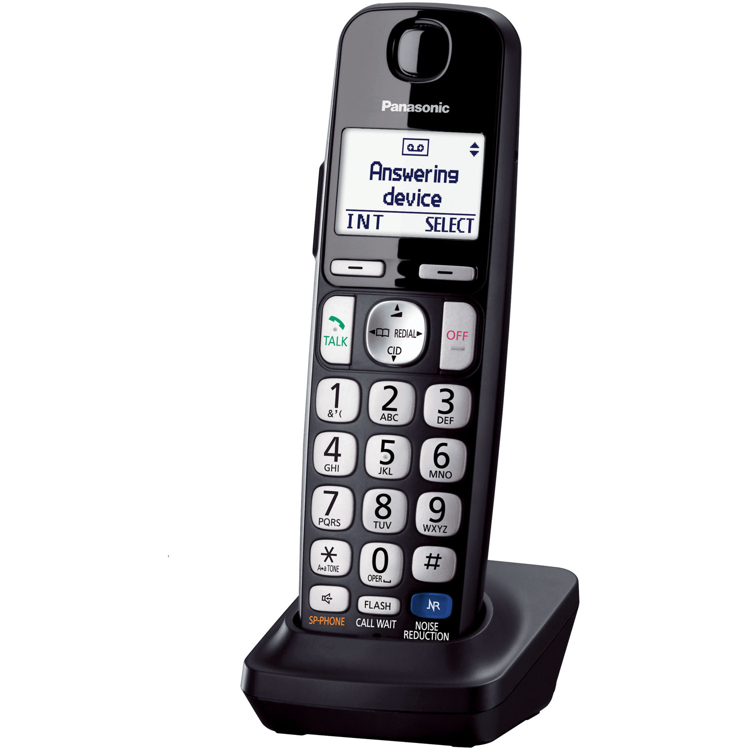Panasonic Extra Handset for the KX-TGE210/ 230/ 240/ 260/ 270 Series of Phone Systems - Black