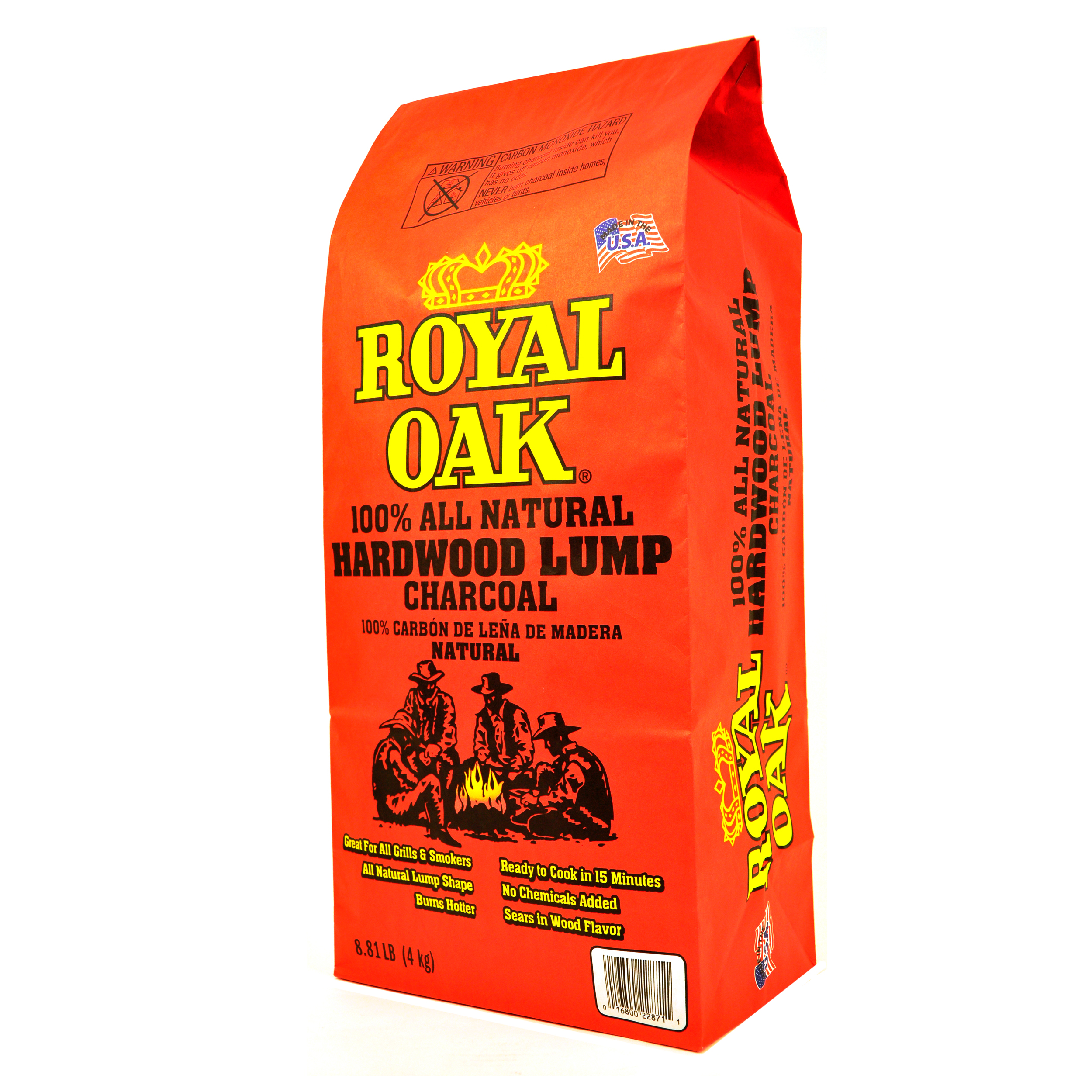 Royal Oak Natural Lump Charcoal, 8.8 lb Bag