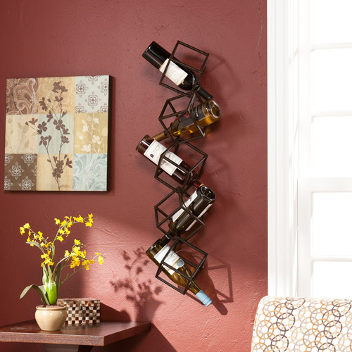 Southern Enterprises Nyssa 5-Bottle Wall-Mounted Wine Rack by Southern Enterprises Inc