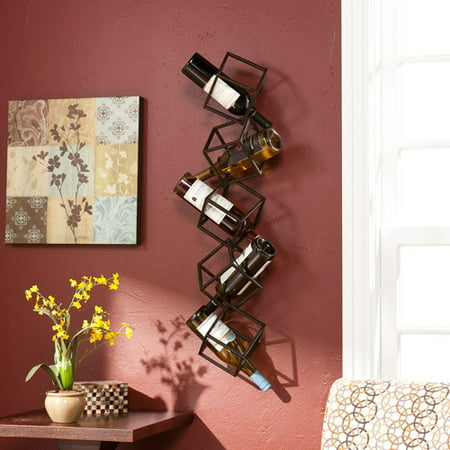 Southern Enterprises Nyssa 5-Bottle Wall-Mounted Wine
