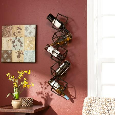 Southern Enterprises Nyssa 5 Bottle Wall Mounted Wine Rack