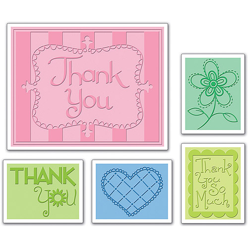 Sizzix Textured Impressions Embossing Folders, Thank You #3