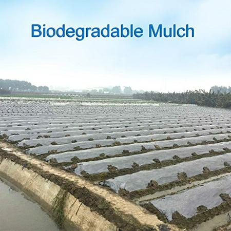 - Agfabric 1.57mil Bio-Mulch Biodegradable Plasticulture Film Landscape for Organic Gardening Gardening Farming Film Weed Barrier 3x200ft Size black