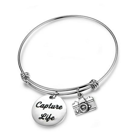 Capture Life Bracelet Photographer Gift Camera Charm Bracelet Best friend Gift Selfie Lovers