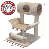 Majestic Pet Products 29 in. Casita Fur Cat Tree with Splayed Center - Tan
