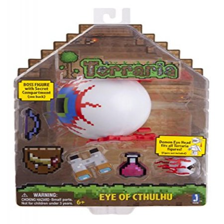 Terraria Deluxe Boss Pack: Eye of Cthulhu Boss Action Figure with Accessories - Terraria Best Accessories