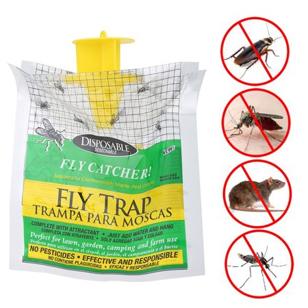 Dilwe Rescue Disposable Fly Trap Bag Catches Up Flies Just Add Water Hang, Fly Trap Bag,Fly Trap