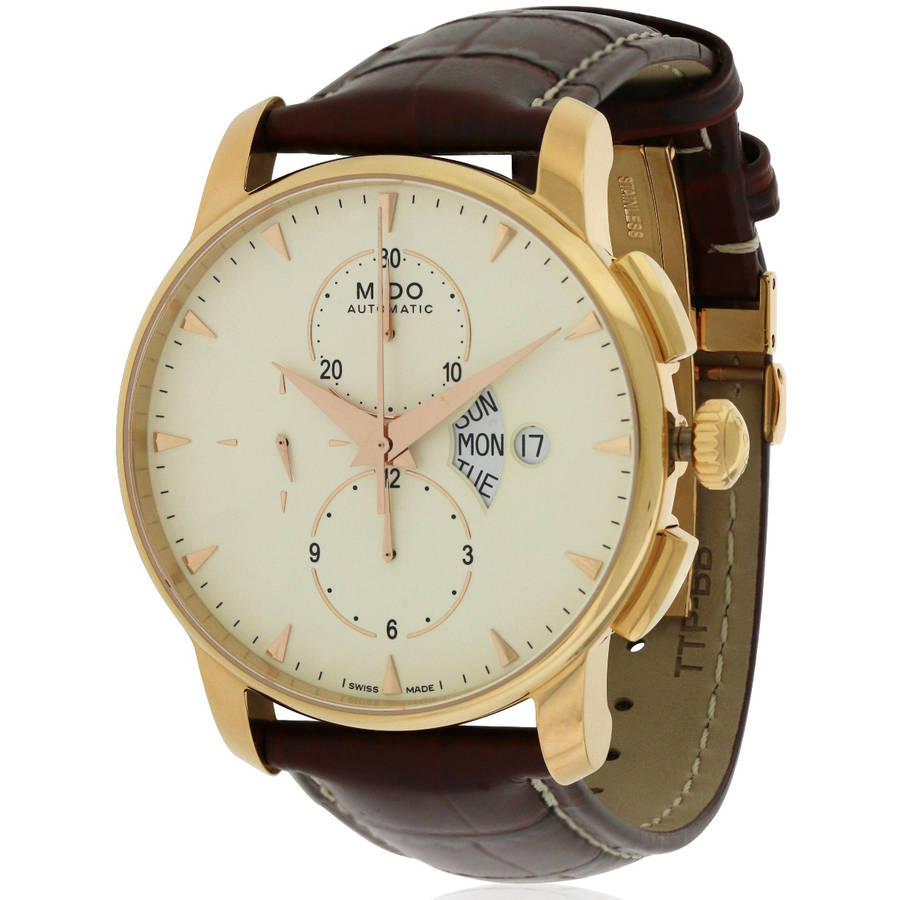 Baroncelli Leather Automatic Chronograph Men's Watch, M8607.3.11.82