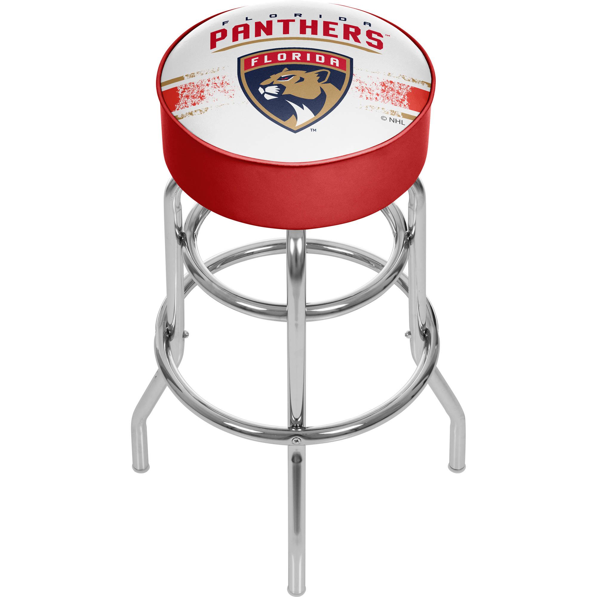 NHL Florida Panthers Chrome Bar Stool with Swivel