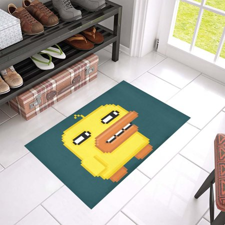 MKHERT Funny Pixel Art Duck Doormat Rug Home Decor Floor Mat Bath Mat 23.6x15.7 inch