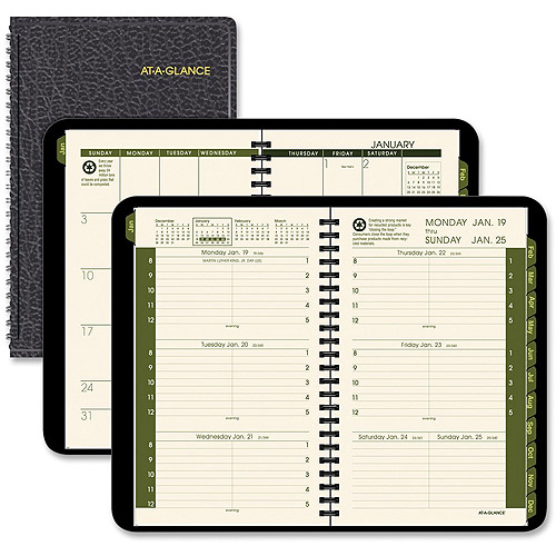 At-A-Glance Recycled Green Living Weekly/Monthly Appointment Book