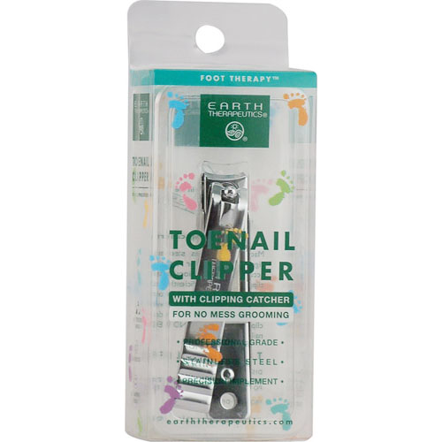 Earth Therapeutics Toenail Clipper With Catcher - 1 Unit