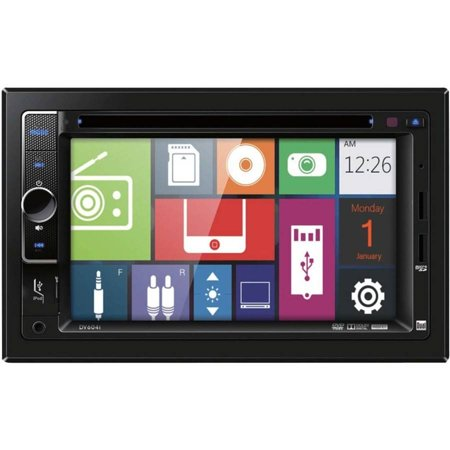 Dual Electronics DV604I 6.2″ Double-DIN In-Dash DVD Receiver with Apple iPod Control