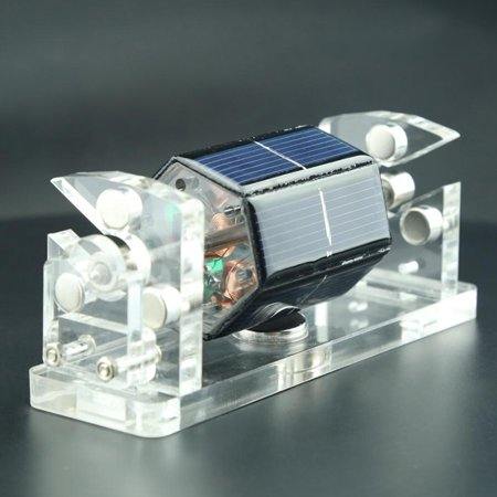 Creative Hexagon Solar Magnetic Levitation Horizontal Levitating Stand Educational Model Gift Motor - image 7 of 7