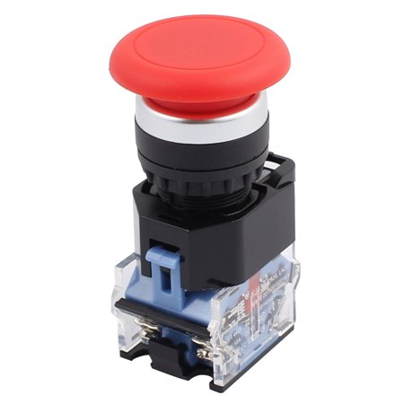 Ui 440 V Ith 10 A Mushroom Head Momentary DPST 1NO+1NC Pushbutton Switch