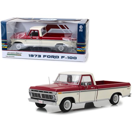 1973 Ford F-100 Ranger Pickup Truck Red and Cream 1/18 Diecast Model Car by (98 Ford Ranger Pickup Truck)