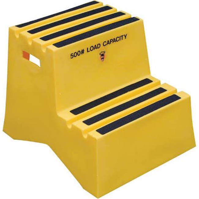 Vestil VST-2-Y Yellow 2 Step Polyethylene Step Stool