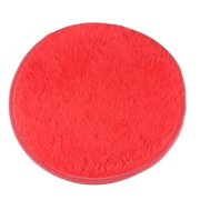 NK HOME Luxury Round Fluffy Super Soft Rug Warm Carpet Suitable for Living Room Bedroom Children's Room Bathroom Rugs Red Pink Brown Diameter 40 cm