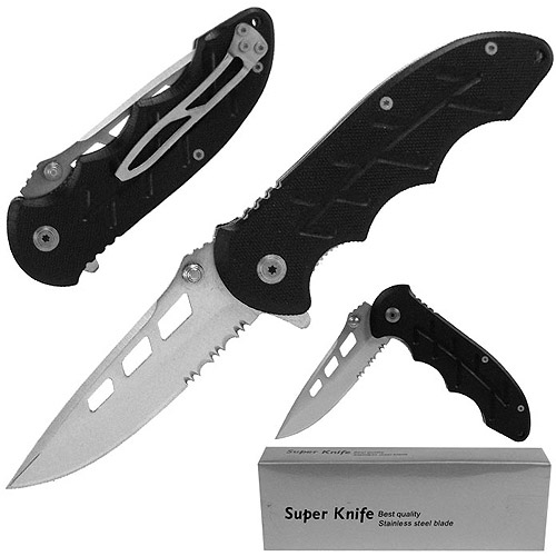 Whetstone Resilient Stainless Spring Assisted Folder with G10 Handle, Black