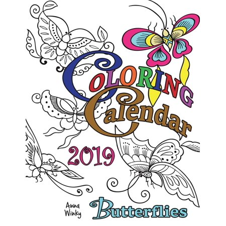Coloring Calendar 2019 Butterflies (Paperback)