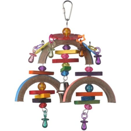 Super Bird Creations 9 by 7-Inch Binky Mobile Bird Toy, Medium - Blinkies Toy