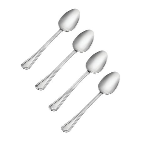Pfaltzgraff Basics Edge Brook Teaspoons, Stainless Steel S/4