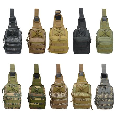 Smartasin Men Daily Shoulder Tactical Backpack Army Tacti Duffle Nylon Bag Military Messenger Sling Bags Rucksack