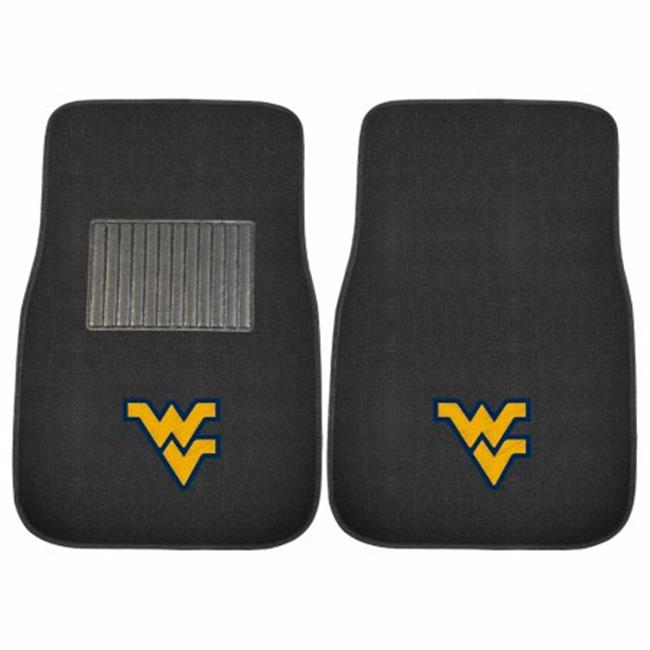 2 Piece West Virginia Mountaineers NCAA Embroidered Car Mat Set