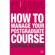 How to Manage your Postgraduate Course - eBook