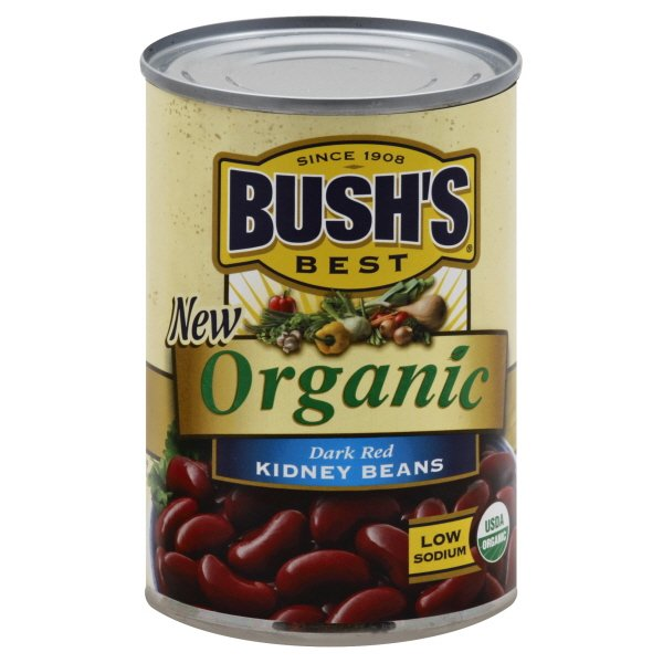 Bushs Best Organic Dark Red Kidney Beans 15 Oz Walmart Com Walmart Com