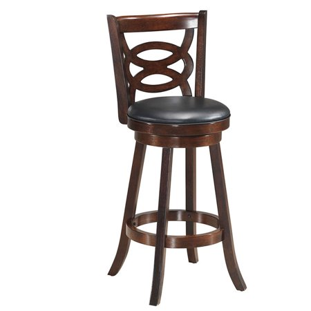 Costway Swivel Stool 29 Bar Height Upholstered Seat