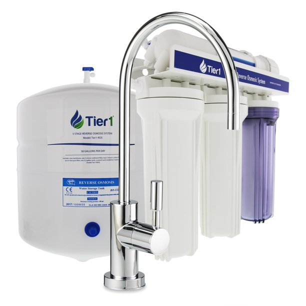 Tier1 5 Stage Under Sink Reverse Osmosis Home Drinking Water Filtration System 50 GPD