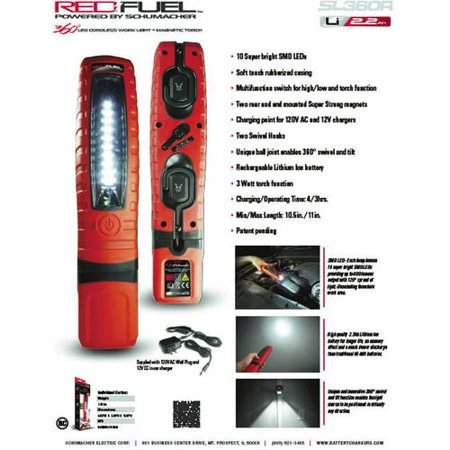 Schumacher® SL360R LED Cordless Work Light + Magnetic Torch