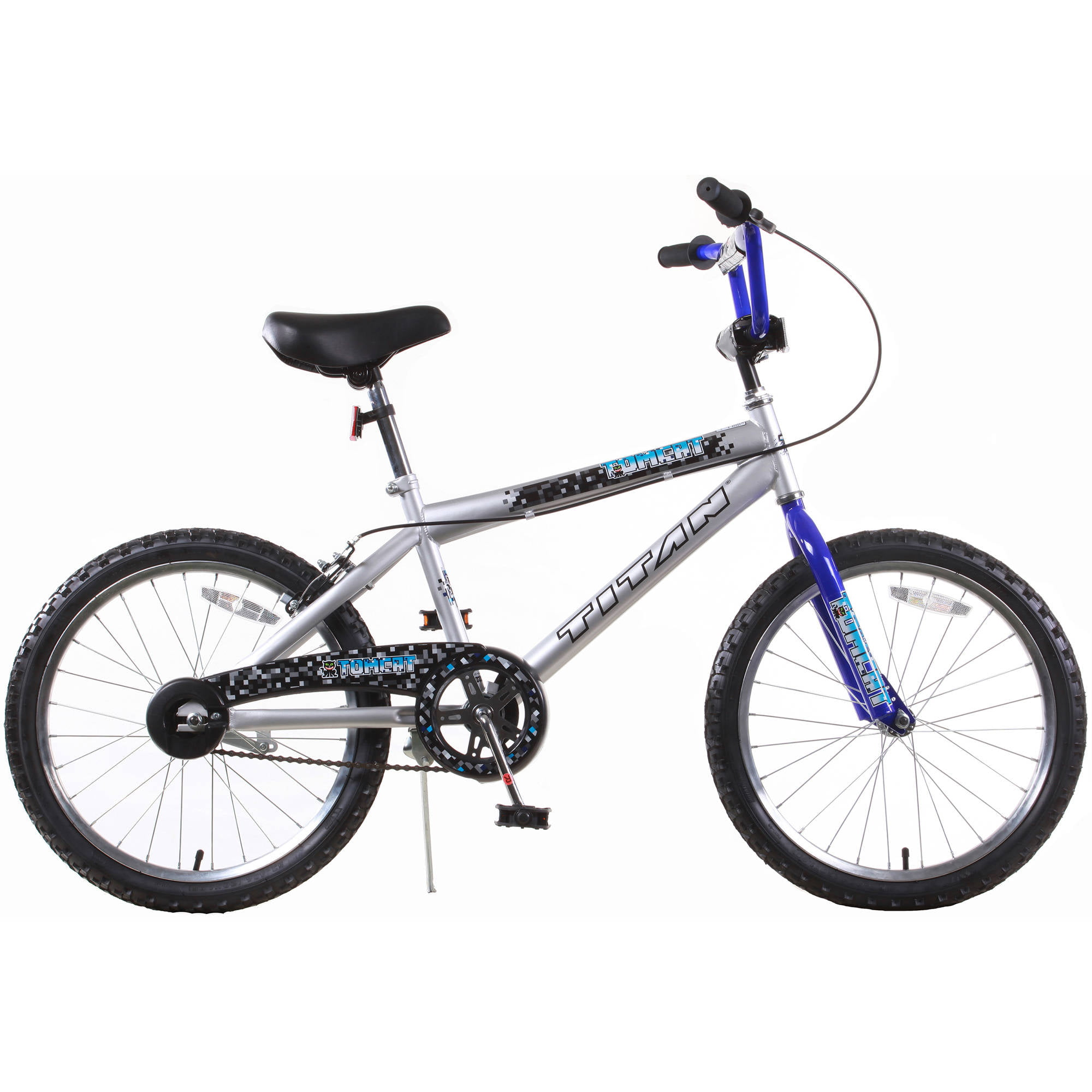 "TITAN Tomcat Boys BMX Bike with 20"" Wheels, Blue and Silver by Titan"