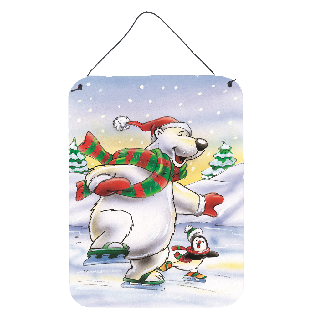 Holiday Polar Bears Ice Skating Wall or Door Hanging Prints ...