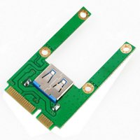 Practical Mini PCI-E Card Slot Expansion To USB 2.0 Interface Adapter Riser Card