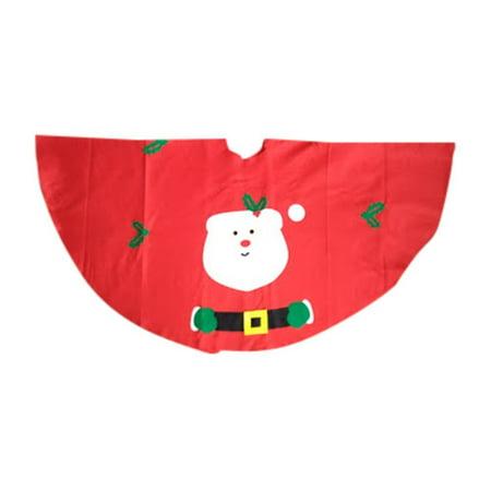 Santa Claus Pattern Felt Med/Reg Size Christmas Tree Skirt - 38''Great for Christmas decor By Christmas House - Felt Santa