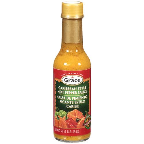 Grace Caribbean Style Hot Pepper Sauce, 4.8 oz
