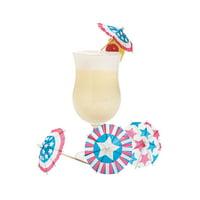 Patriotic Drink Umbrella - Party Supplies - 144 Pieces