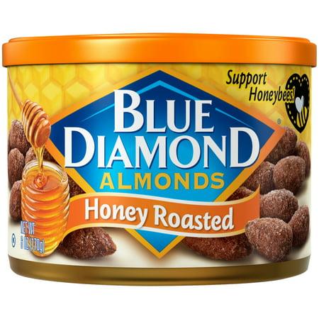 (12 Pack) Blue Diamond Honey Roasted Almonds 6 oz. Canister