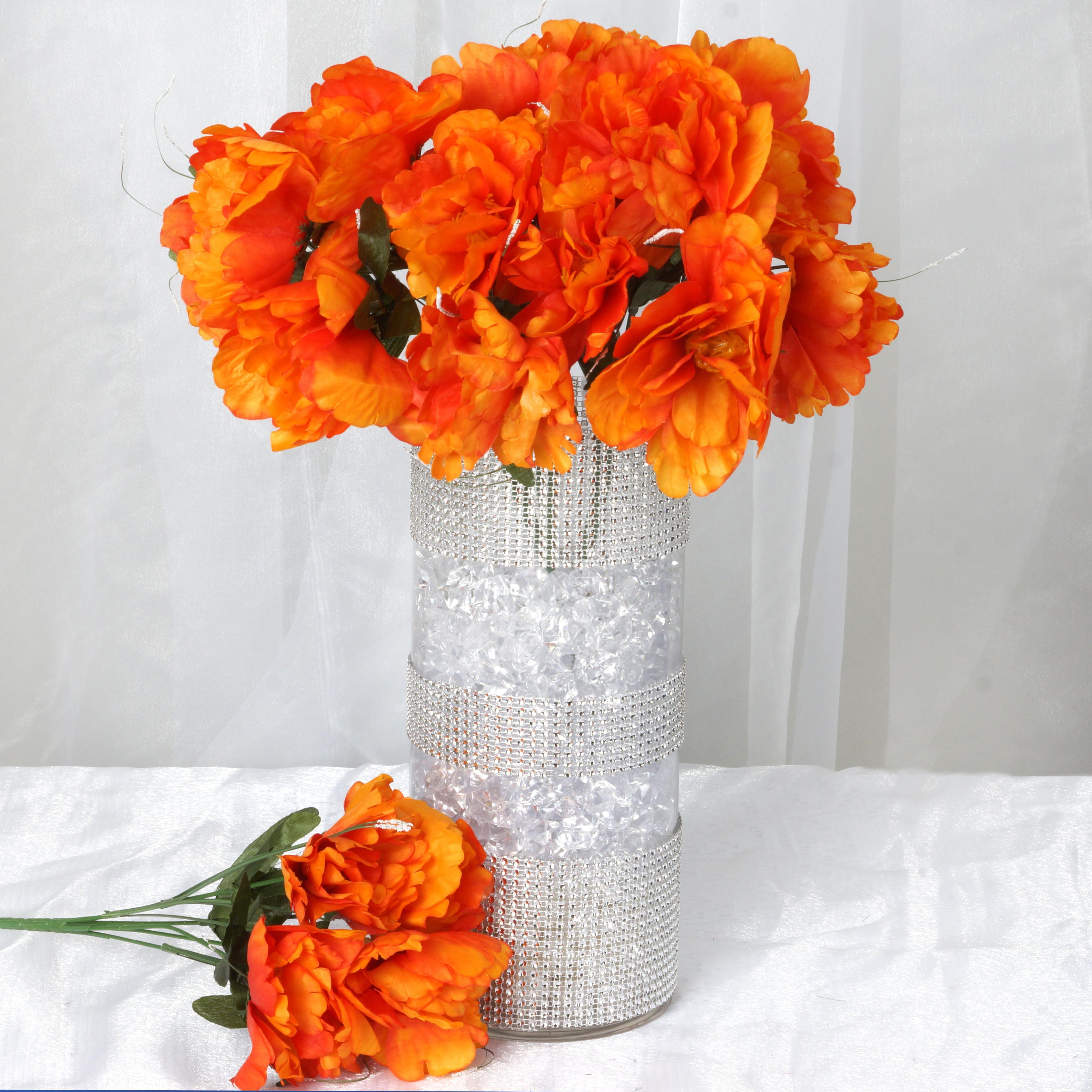 Efavormart 60 pcs Artificial PEONY Flowers for DIY Wedding Bouquets Centerpieces Arrangements Party Home Decorations - 12 bushes