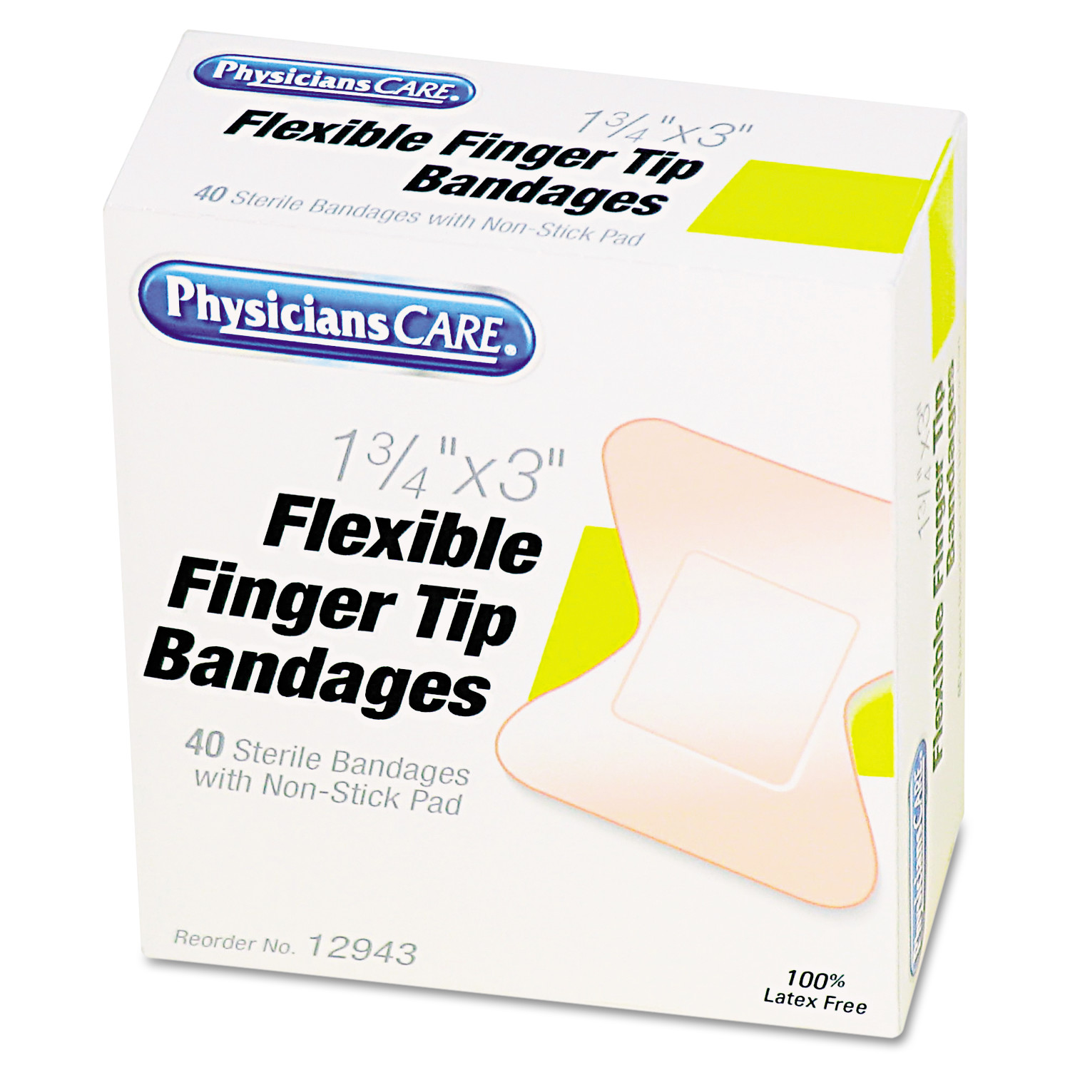 PhysiciansCare by First Aid Only First Aid Fingertip Bandages, 40/Box