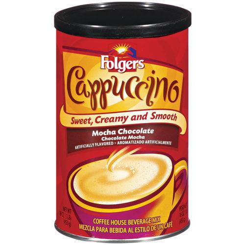 Folgers Mocha Chocolate Cappuccino Coffee Mix, 16 oz