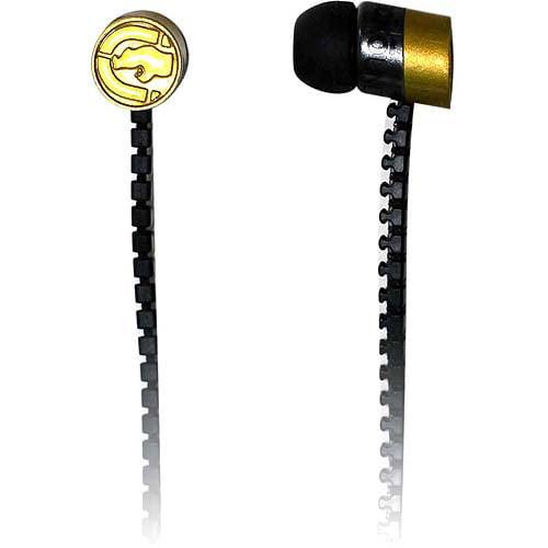 Mizco Ecko Zip Earbud Headphones, Gold