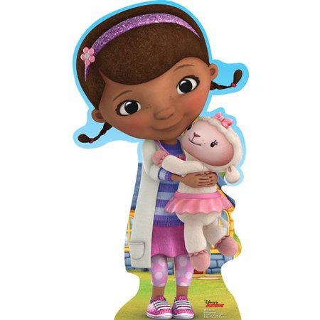 Doc McStuffins Cardboard Standup Decoration (Each) - Party Supplies - Cardboard Fireplace Decoration
